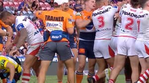 Heart-Warming Moment Tariq Sims Shields Concussed Opponent While All-In Brawl Breaks Out