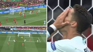 Cristiano Ronaldo Misses Absolute Sitter Against Hungary After Stunning Bruno Fernandes Cross