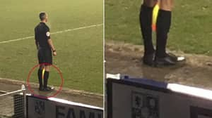 Linesman Forgets Boots For Tranmere vs Morecambe Game, Wears Smart Shoes Instead