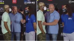 Kamaru Usman And Jorge Masvidal Have Intense Face-Off Ahead Of UFC 251 Title Fight