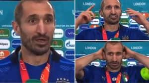 Giorgio Chiellini's Passionate Post-Match Interview In Fluent English Has Left Fans Impressed