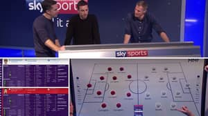 Sky Sports Pits Team Of Gary Nevilles Against Team Of Jamie Carraghers On Football Manager