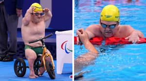 Paralympic Fans In Love With Aussie Swimming Hero Grant 'Scooter' Patterson