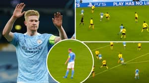 Compilation Of Kevin De Bruyne's Performance Against Borussia Dortmund Shows He's In A League Of His Own