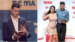 Cristiano Ronaldo's Girlfriend Georgina Rodriguez Reacts To Him Coming Third In Ballon d'Or