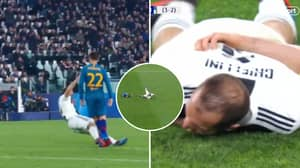 Giorgio Chiellini's Ridiculous Play Acting Reached A Whole New Level Vs Atletico