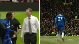 Everton Substitute Moise Kean Subbed Off After Just 18 Minutes Against Manchester United