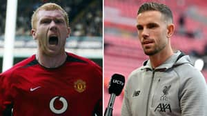 Liverpool Fan Makes Bold Claim That Man United Legend Paul Scholes Is Just A 'Ginger Mark Noble'