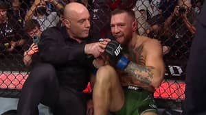Joe Rogan Explains Why He Controversially Interviewed Conor McGregor In The Octagon After UFC 264 Leg Break