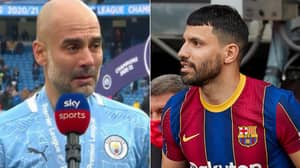 Sergio Aguero's Father Brutally Accuses Pep Guardiola Of Faking Tears In Emotional Interview