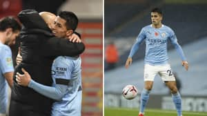 Manchester City Fans Loved Joao Cancelo Fighting Off Adama Traore
