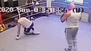 Former World Champion Boxer Puts Facebook Troll On The Canvas In The Gym