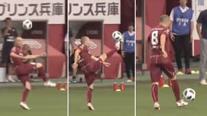Andres Iniesta's First Touch Is A Thing Of Beauty
