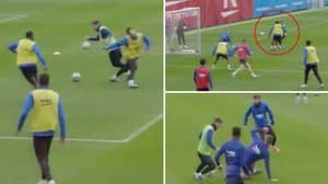 Lionel Messi Making His Teammates Look Like Schoolboys In Barcelona Training Is Going Viral