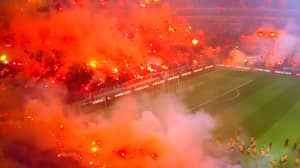 Welcome To Hell: 42,000 People Turn Galatasaray Training Into Fire Pit