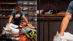 Cristiano Ronaldo Owns A 'G.O.A.T' T-Shirt - Of Course He Does