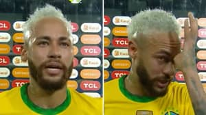 Neymar Breaks Down In Tears During Interview After Realising How Close He Is To Breaking Pele Record