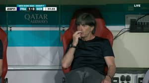 Football Fans Get Deja Vu As Joachim Low Is Caught 'Sniffing' His Fingers Once Again