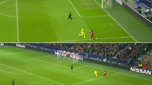 Mo Salah Scores From Difficult Angle To Send Liverpool Through