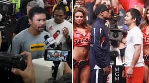Manny Pacquiao Responds To Floyd Mayweather's 'Exhibition' Fight Claim