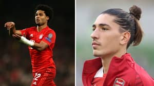 Hector Bellerin Certainly Enjoyed Serge Gnabry's Four Goals Vs Spurs