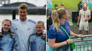 The Moment Harry Kane Met David Beckham With Schoolgirl Who Would Become His Wife