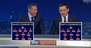 Jamie Carragher Mocks Gary Neville's Combined Manchester United-Liverpool XI For One Player Choice