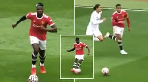 Paul Pogba Produced A Stunning No-Look Assist For Mason Greenwood's Goal Last Saturday