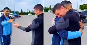 Footage Emerges Of Sergio Aguero Giving Away His Car To Manchester City Kit Man