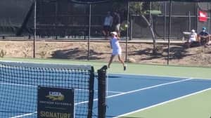 Ambidextrous 12-Year-Old Tennis Player With Two Forehands Goes Viral