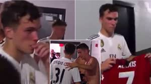Real Madrid Youth Player Sergio Lopez Asking For Alexis Sanchez's Shirt Is Brilliant