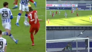 Marcel Sabitzer Scores Absolute Screamer With So Much Power And Dip That It Completely Fools Goalkeeper