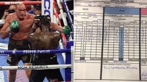 Deontay Wilder Vs Tyson Fury II Scorecards At Time Of The TKO Revealed