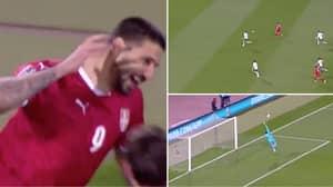 Serbia Striker Aleksandar Mitrovic Scores Brilliant Goal Vs Ireland