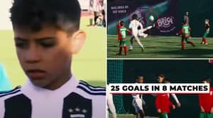 Rare Footage Of Cristiano Ronaldo Jr Dominating On the Pitch Shows He's Going To Be A Generational Talent