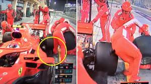 Kimi Raikkonen Runs Over His Crew Member And Breaks His Leg In Horror Incident