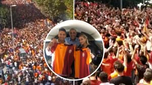 Over 25,000 Galatasaray Fans Turn Up At Istanbul Airport To Welcome Radamel Falcao