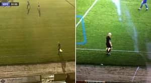 AI Camera Mistakes Linesman's Bald Head For The Ball In Inverness Game