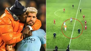 When Stewards Hilariously Chased Benjamin Mendy Thinking He Was A Pitch Invader
