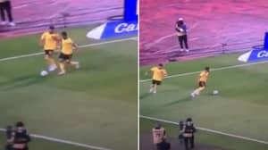Eden Hazard Pushing Belgium Teammate Yannick Carrasco Off The Ball Is Actually Brutal