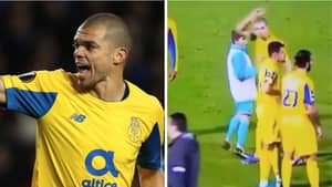 Pepe Loses His Temper And Straight Up Refuses To Shake Ball Boy's Hand
