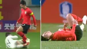 Watch: Arsenal Midfielder Lucas Torreira Takes Out Spurs' Forward Heung-Min Son In Friendly Game