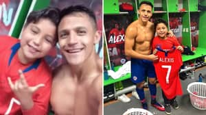 Alexis Sánchez Makes Chile Fan's Dream Come True After Giving Him His Entire Kit