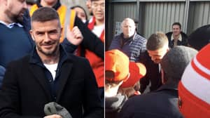 David Beckham Turns Up To Watch Salford City And Spends 30 Minutes Taking Selfies