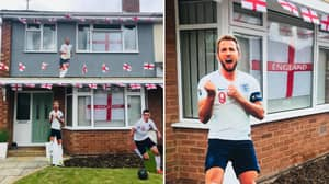 England Fan Decorates Entire House For Euros While Welsh Girlfriend Is At Work