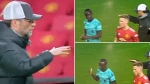 Furious Sadio Mane Angrily Snubbed Jurgen Klopp's Handshake After Manchester United Win