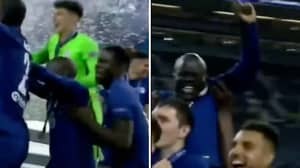 Kurt Zouma Lifted N'Golo Kante In The Air So He Could Be Seen During Champions League Celebrations