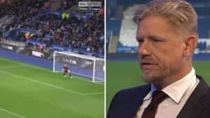 Fans Reckon Peter Schmeichel Defended Son Kasper Too Much On MNF Last Night