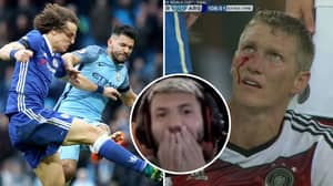 Sergio Aguero Reacting To His Worst Ever Tackles Makes For Hilarious Viewing
