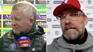Chris Wilder Hits Back At Jurgen Klopp In War Of Words